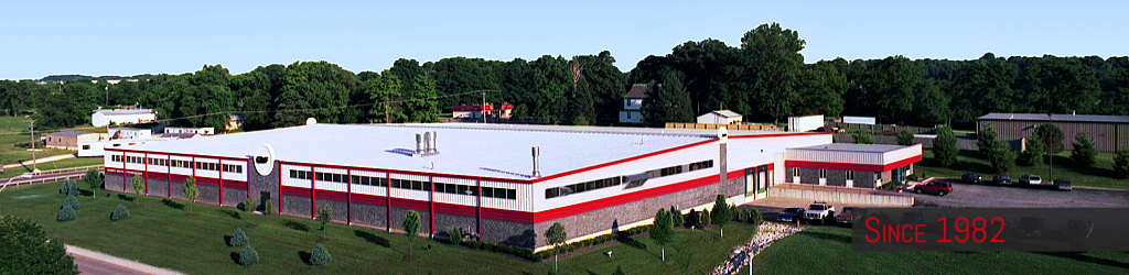 Overview photo of Quincy Metal Fabricators' 65,000 sq ft precision sheet metal facility.