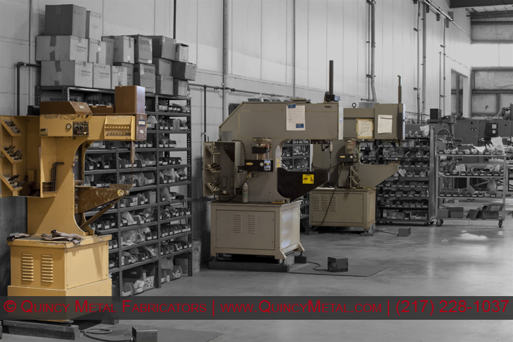 Quincy Metal Fabricators three PEM Hardware insertion machines, with automatic feed attachment.